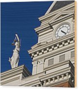 Clarksville Historic Courthouse Wood Print
