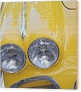 Classic Antique Chevy Corvette - Detail Wood Print