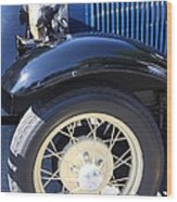 Classic Antique Car- Roaring Twenties - Detail Wood Print