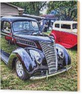 Classic Black Ford Wood Print