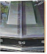 Classic Camaro Ss Hood Cowl Wood Print