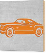 Classic Car 2 Wood Print by Naxart Studio