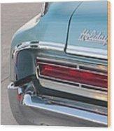 Classic Car Aqua Holiday Wood Print
