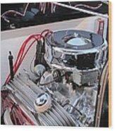 Classic Car Engine Wood Print