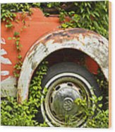 Classic Car Forgotten Wood Print