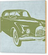 Classic Car Wood Print by Naxart Studio
