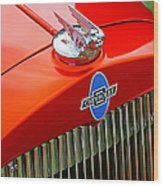 Classic Chevrolet Hood And Grill Wood Print