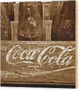 Classic Coke Work B Wood Print