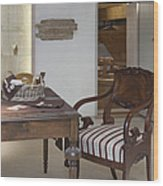 Classic Desk And Display Cases Wood Print
