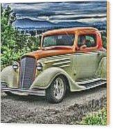 Classic Ford Hdr Wood Print