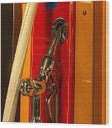 Classic Gas Pump Wood Print