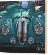 Classic Green Jaguar . 40d9411 Wood Print by Wingsdomain Art and Photography