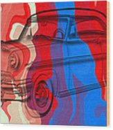 Classic Mercury Abstract Wood Print