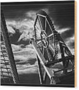 Classic Old Windmill Wood Print