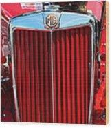 Classic Red Mg Wood Print