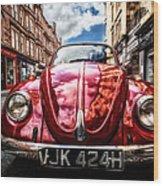Classic Vw On A Glasgow Street Wood Print by John Farnan