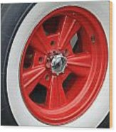 Classic White Wall Tire And Mag Wood Print