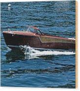 Classic Wooden Boat Wood Print