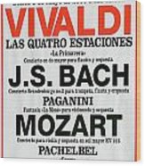 Classical Concert Poster Wood Print