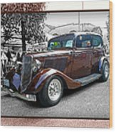 Classy Brown Ford Wood Print