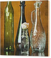 Classy Glass Wood Print by Peter Chilelli