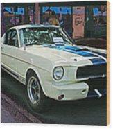 Classy Mustang Wood Print