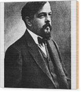Claude Debussy, French Composer Wood Print by Photo Researchers