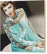 Claudette Colbert, Ca. 1940s Wood Print by Everett