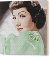 Claudette Colbert, Ca. 1950 Wood Print by Everett