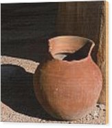 Clay Pot And Shadow Wood Print