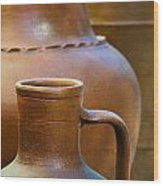 Clay Pottery Wood Print