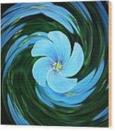 Clear Blue  Wood Print