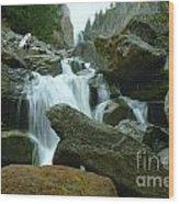 Clear Creek Falls Wood Print