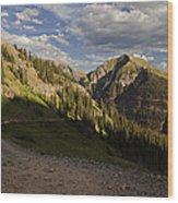 Clear Lake Road Wood Print