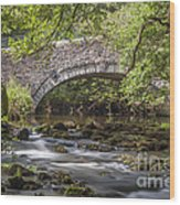 Clearbrook River Meavy Wood Print by Donald Davis