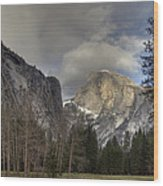 Clearing At Half Dome Wood Print