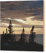 Clearing Sky Wood Print