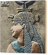 Cleopatra Vii Wood Print by Sheila Terry