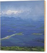 Clew Bay, Co Mayo, Ireland View Of A Wood Print