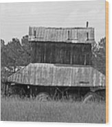 Clewis Family Tobacco Barn II In Black And White Wood Print