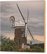 Cley Windmill Wood Print by Chris Thaxter