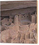 Cliff Palace At Mesa Verde Wood Print