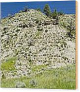 Cliff Side Panorama Wood Print