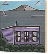 Cliff Top Wood Print