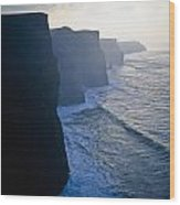 Cliffs Of Moher,co Clare,irelandview Of Wood Print