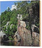 Cliffs On The St Croix Wood Print