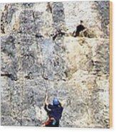 Climbing High Wood Print