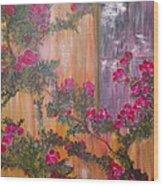 Climbing Rose Vine Wood Print