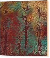 Climbing Unknown Horizons Wood Print