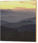 Clingmans Dome Is The Highest Point Wood Print by James P. Blair